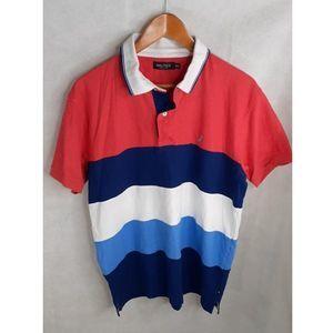 Nautica Men's Size XXL Striped Polo Shirt